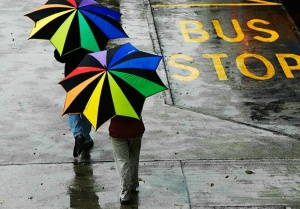 umbrella-at-bus-stop