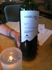 2011 Andeluna Cellars Malbec 1300 Mendoza, Argentina