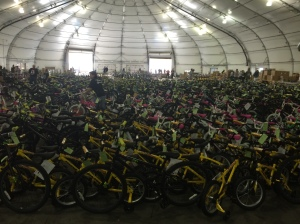 This year's bikes- ready for happy kids!