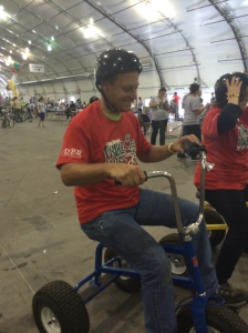 My Better Half in the Tricycle Races.